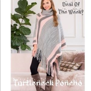 Sweaters - 💜✨Soft Turtle Neck Poncho✨💜